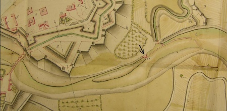 Plan de situation du moulin de Navarrenx en 1792
